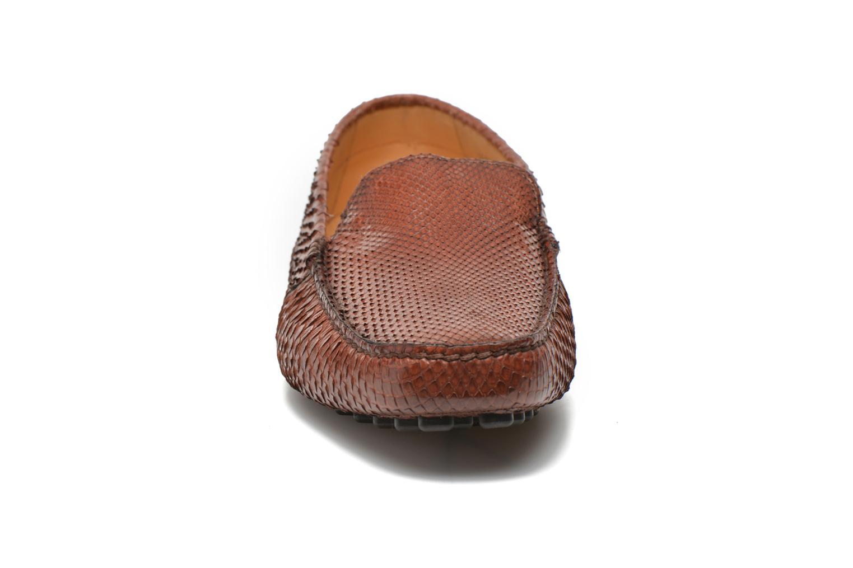 Mocassins Santoni Wellington 14153 Marron vue portées chaussures