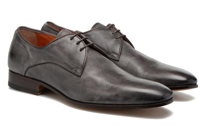 Chaussures à lacets Santoni Moore 12419 Gris vue 3/4