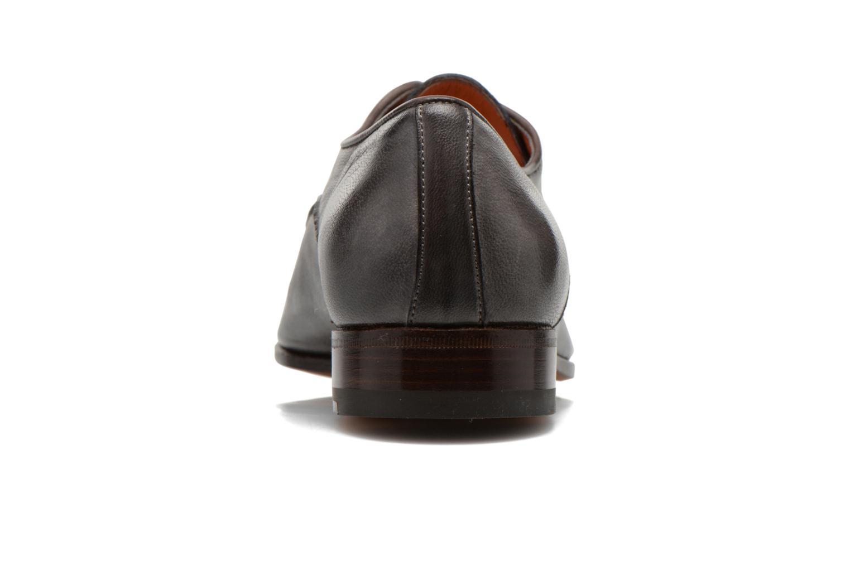 Chaussures à lacets Santoni Moore 12419 Gris vue droite