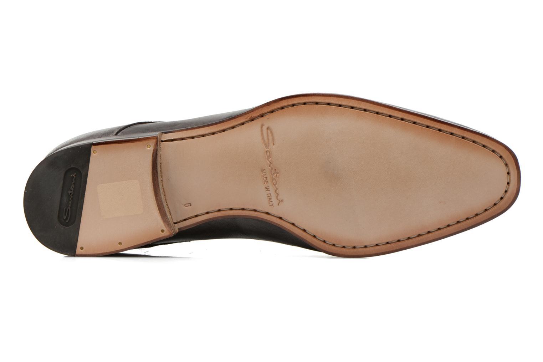 Chaussures à lacets Santoni Moore 12419 Gris vue haut