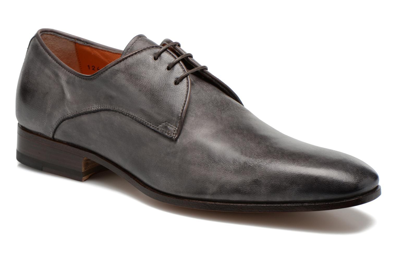 Chaussures à lacets Santoni Moore 12419 Gris vue détail/paire