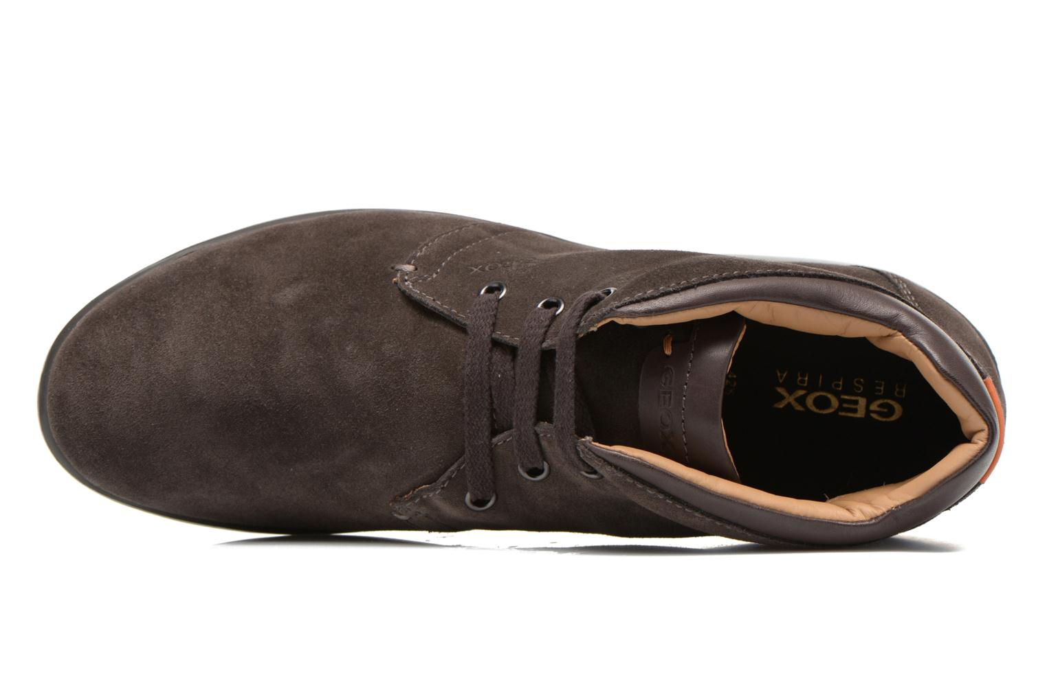 Lace-up shoes Geox U Mantra U44R5B Brown view from the left