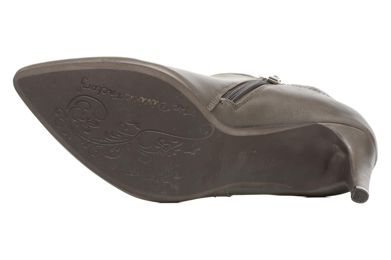 Bottines et boots Divine Factory Adatara Gris vue haut