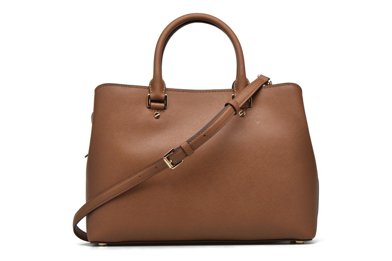 Handbags Michael Michael Kors SAVANNAH LG SATCHEL Brown front view