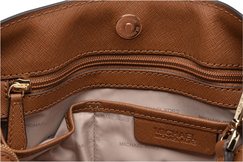 Handbags Michael Michael Kors SAVANNAH LG SATCHEL Brown back view