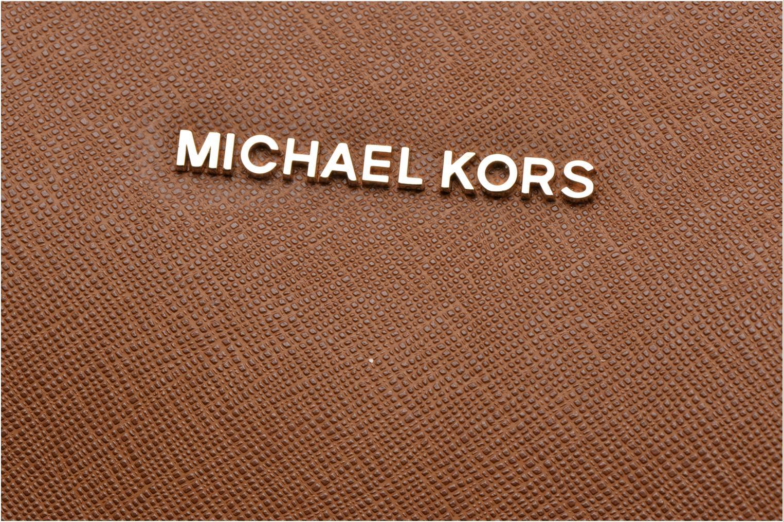 Handbags Michael Michael Kors SAVANNAH LG SATCHEL Brown view from the left