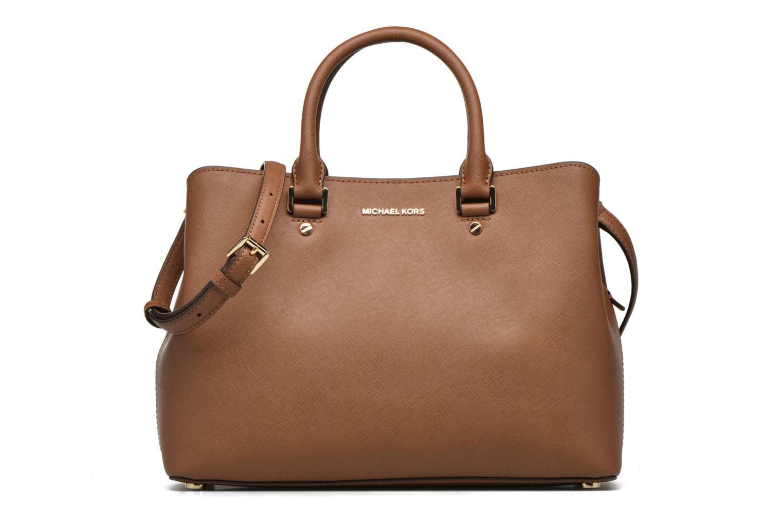 Handbags Michael Michael Kors SAVANNAH LG SATCHEL Brown detailed view/ Pair view