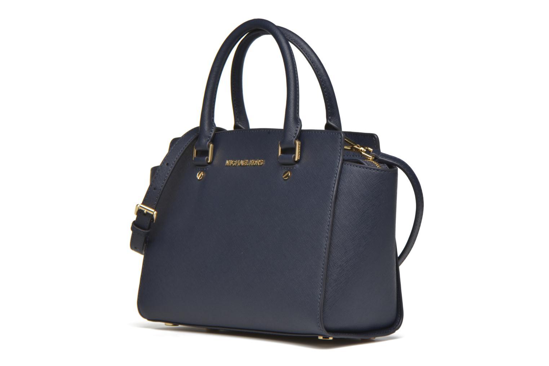 Bolsos de mano Michael Michael Kors SELMA MD TZ SATCHEL Azul vista del modelo