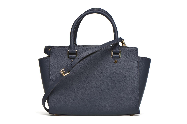 Handtaschen Michael Michael Kors SELMA MD TZ SATCHEL blau ansicht von vorne