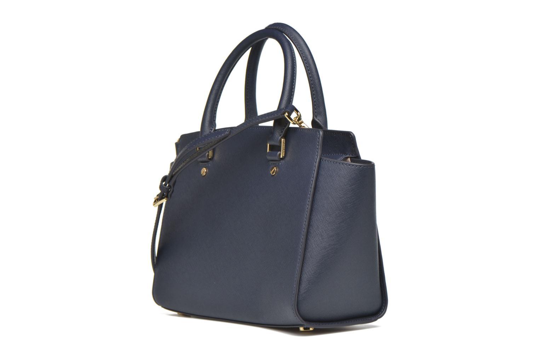 Handtaschen Michael Michael Kors SELMA MD TZ SATCHEL blau ansicht von rechts