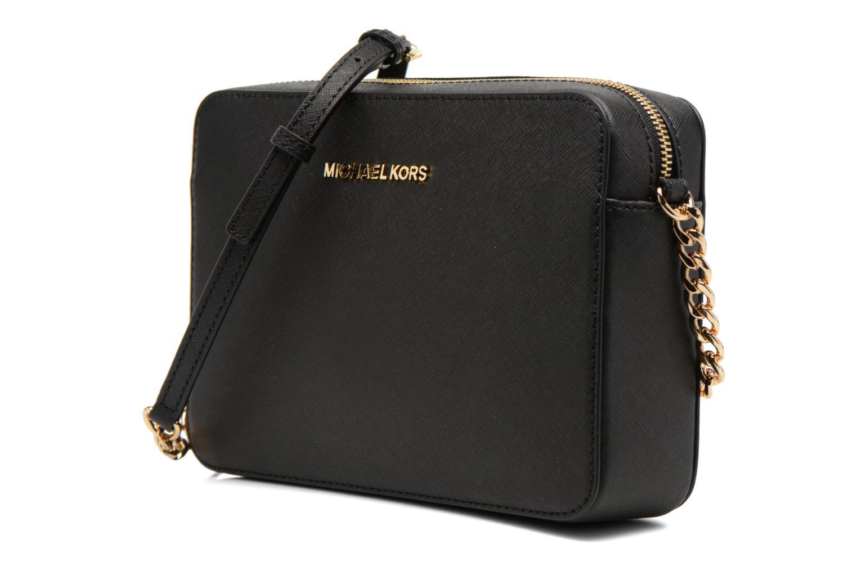 Bolsos de mano Michael Michael Kors JET SET TRAVEL LG EW CROSSBODY Negro vista del modelo