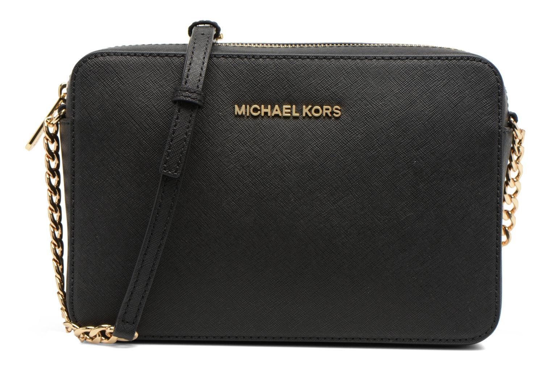 Bolsos de mano Michael Michael Kors JET SET TRAVEL LG EW CROSSBODY Negro vista de detalle / par