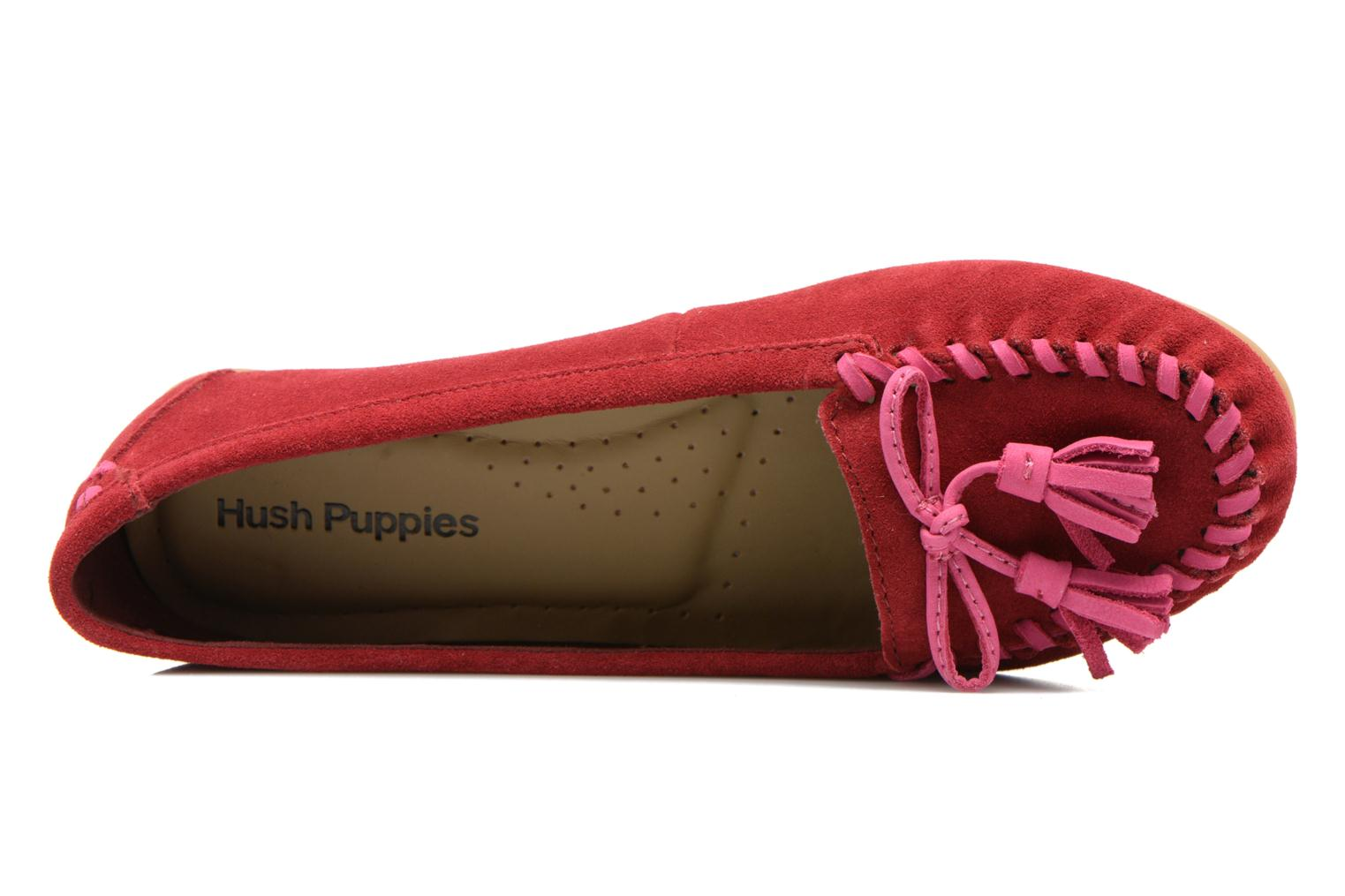 Mocassins Hush Puppies Tasha Create Rouge vue gauche