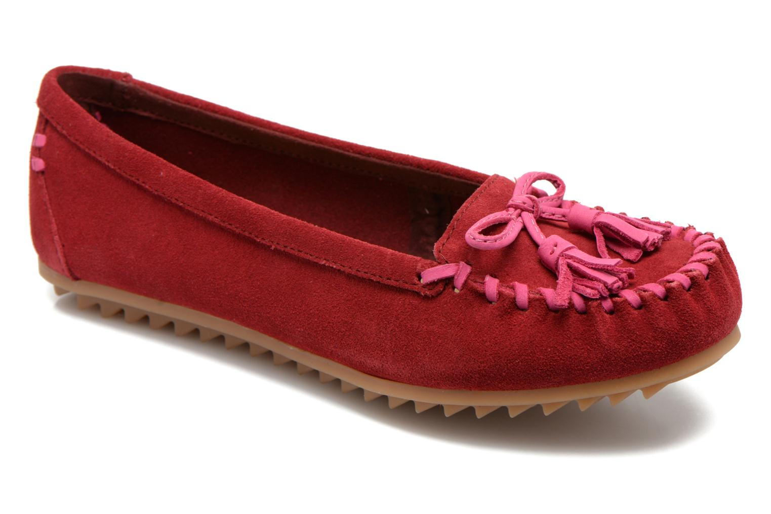 Mocassins Hush Puppies Tasha Create Rouge vue détail/paire