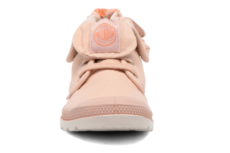 Bottines et boots Palladium Baggy Low Zip LP K Rose vue portées chaussures