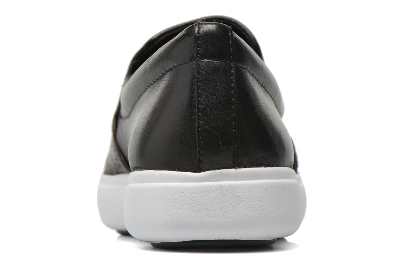 Mocasines DKNY Trey Negro vista lateral derecha