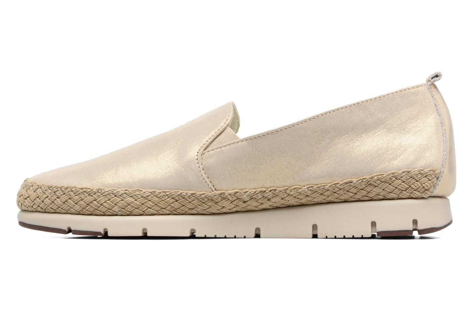 Mocasines Aerosoles Fast Lane Oro y bronce vista de frente