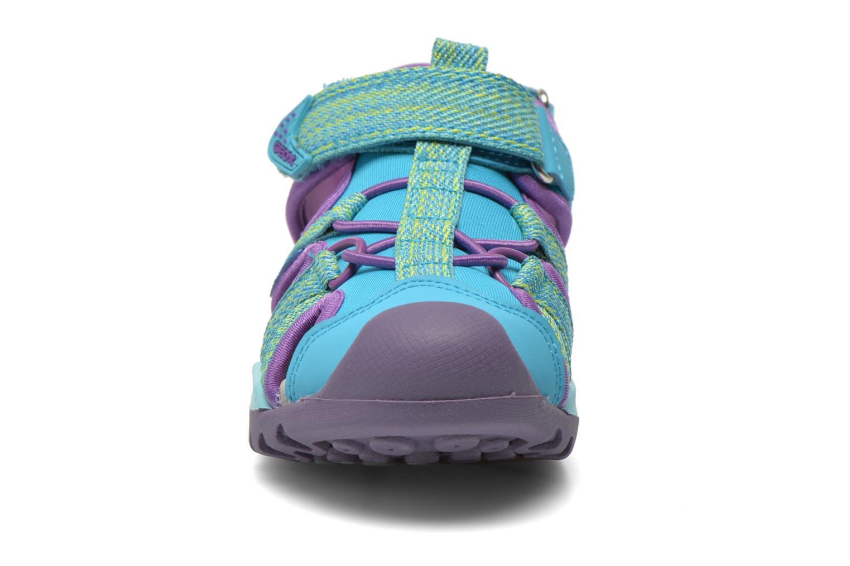 Sandali e scarpe aperte Geox J Borealis G. B J620WB Azzurro modello indossato