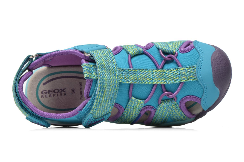 Sandales et nu-pieds Geox J Borealis G. B J620WB Bleu vue gauche