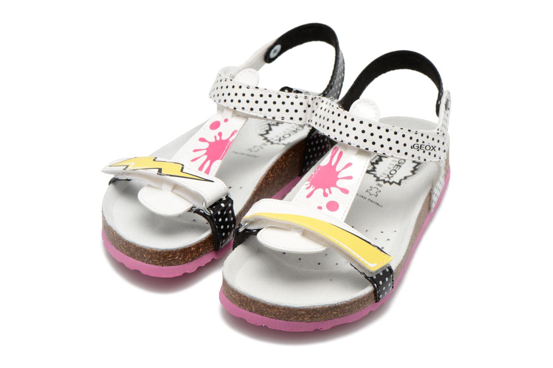 Sandales et nu-pieds Geox J N.S.Aloha G. B J621CB Blanc vue 3/4