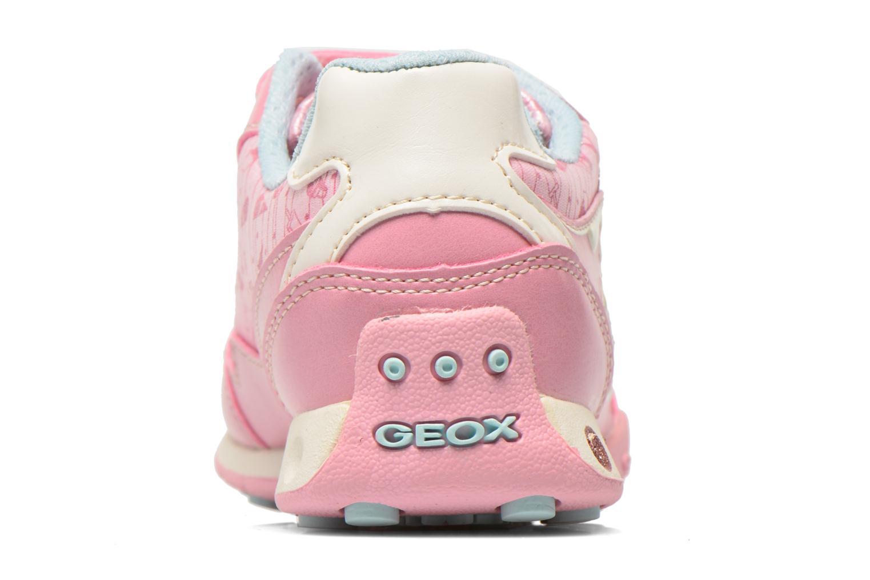Sneaker Geox J N.Jocker G. A J62G2A rosa ansicht von rechts