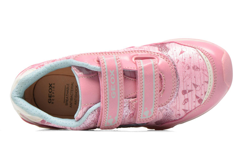 Sneaker Geox J N.Jocker G. A J62G2A rosa ansicht von links