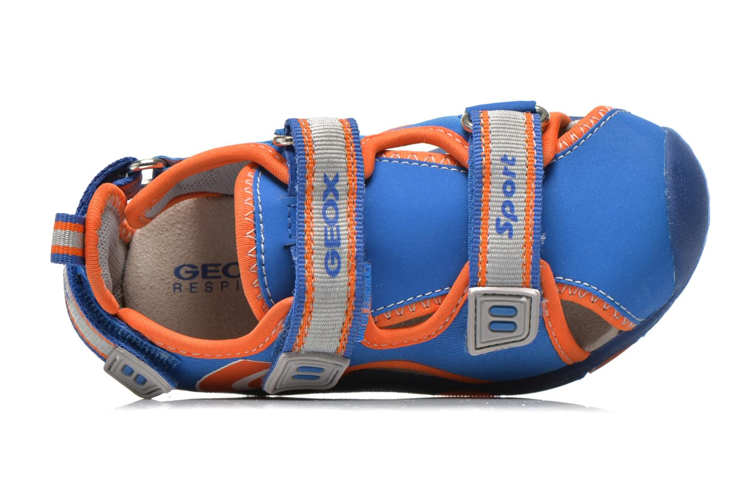 Sandals Geox B Sand.Multy B. B B620FB Blue view from the left