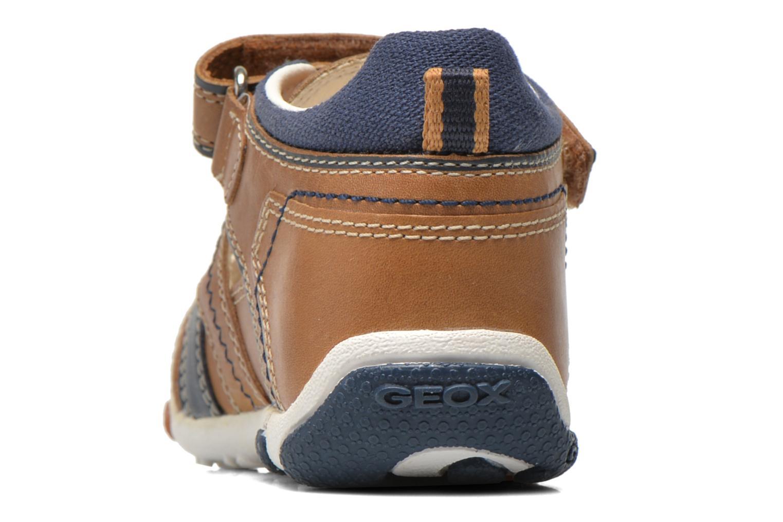 Chaussures à scratch Geox B Balu' B. B B6236B Beige vue droite