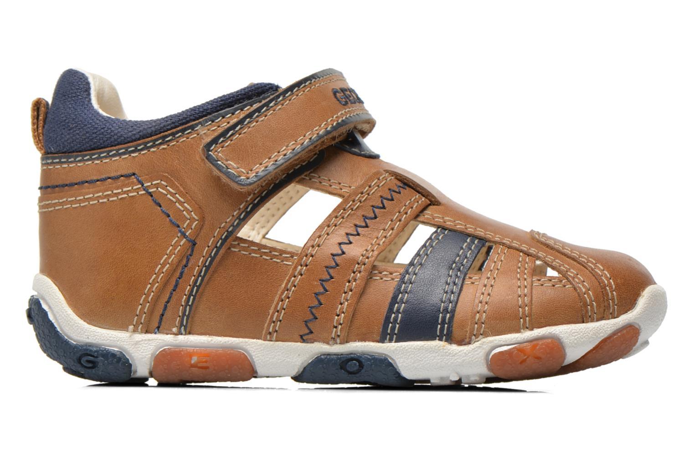 Chaussures à scratch Geox B Balu' B. B B6236B Beige vue derrière