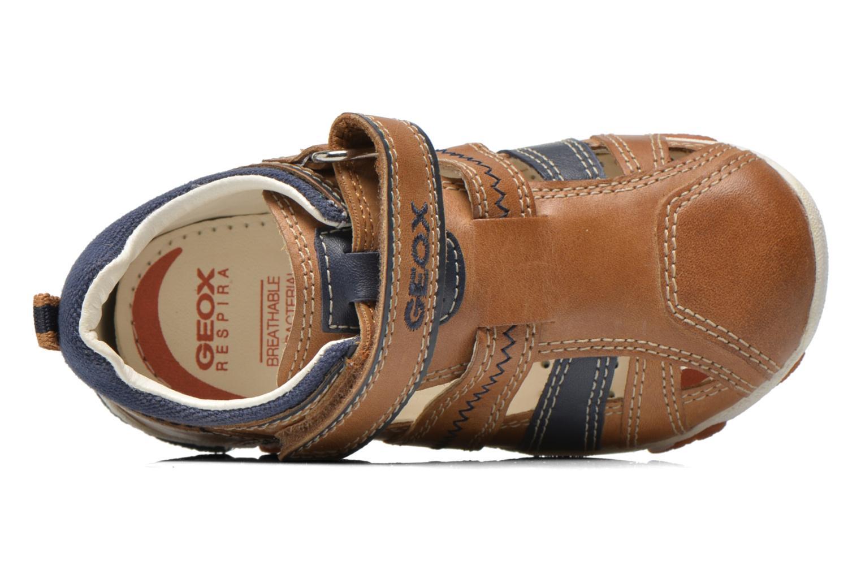 Chaussures à scratch Geox B Balu' B. B B6236B Beige vue gauche