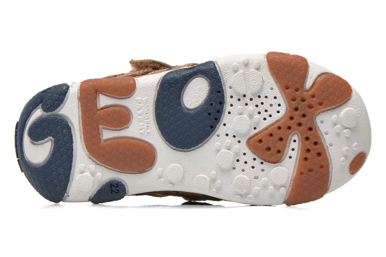 Chaussures à scratch Geox B Balu' B. B B6236B Beige vue haut