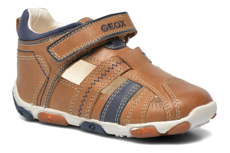 Chaussures à scratch Geox B Balu' B. B B6236B Beige vue détail/paire
