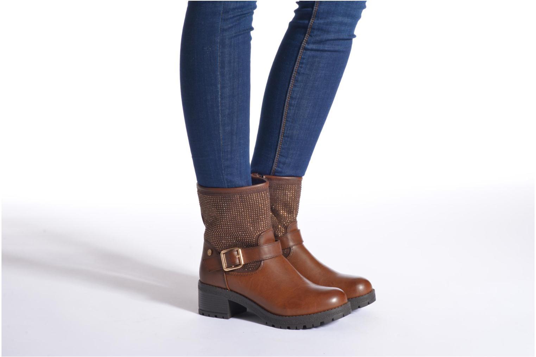 Bottines et boots Xti Livadi Marron vue bas / vue portée sac