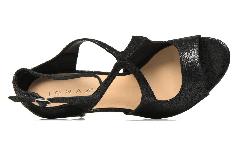 Sandales et nu-pieds Jonak Lysa Noir vue gauche