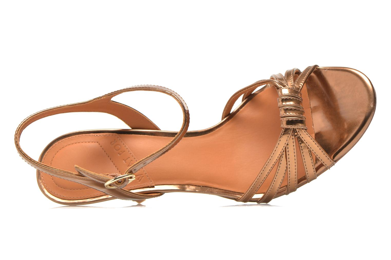 Sandalen What For Salsa gold/bronze ansicht von links