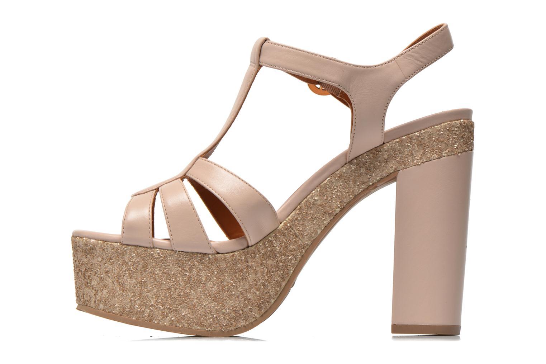 Sandalen What For Cabia beige ansicht von vorne