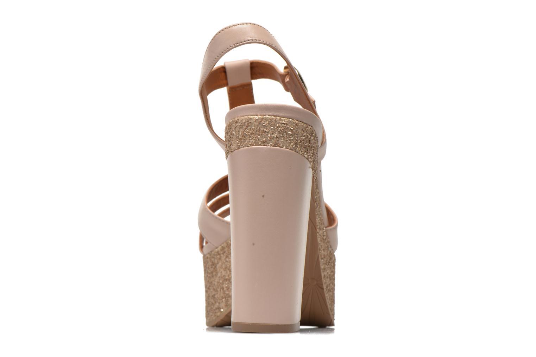 Sandales et nu-pieds What For Cabia Beige vue droite