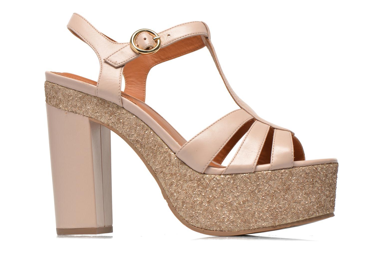 Sandalen What For Cabia beige ansicht von hinten