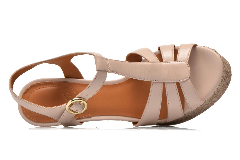 Sandales et nu-pieds What For Cabia Beige vue gauche