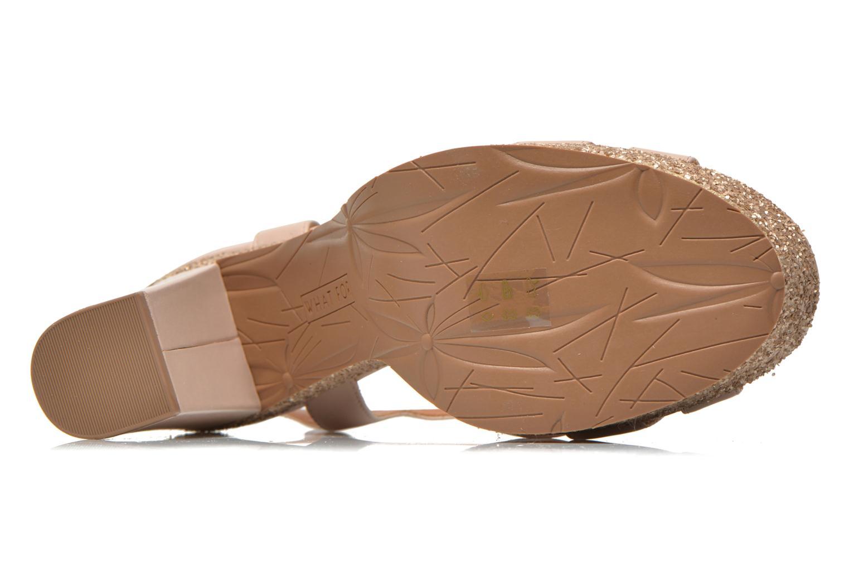 Sandales et nu-pieds What For Cabia Beige vue haut