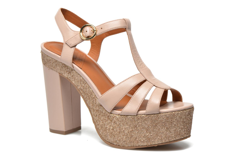 Sandales et nu-pieds What For Cabia Beige vue détail/paire