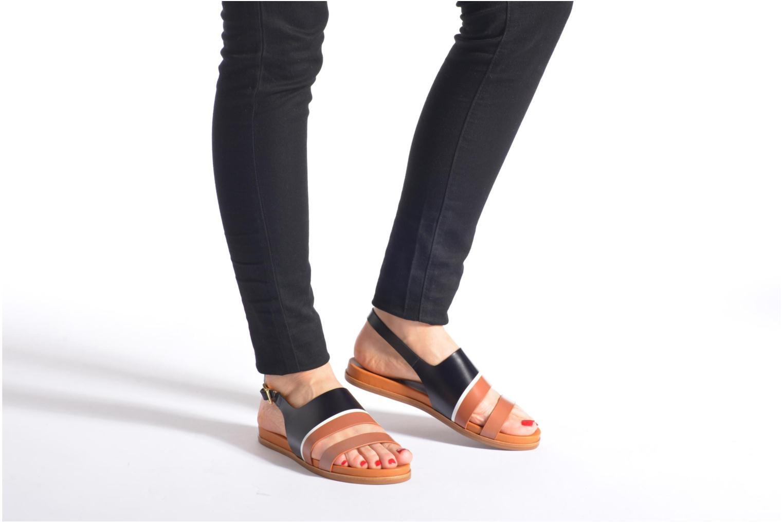 Sandales et nu-pieds What For Charm Noir vue bas / vue portée sac
