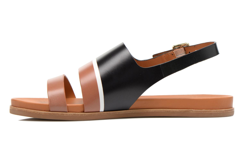 Sandales et nu-pieds What For Charm Noir vue face
