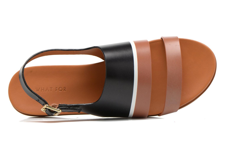Sandales et nu-pieds What For Charm Noir vue gauche