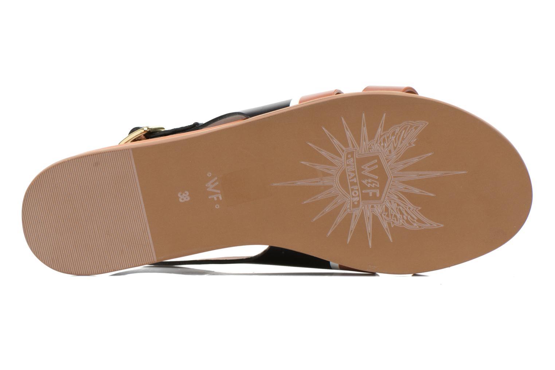 Sandales et nu-pieds What For Charm Noir vue haut