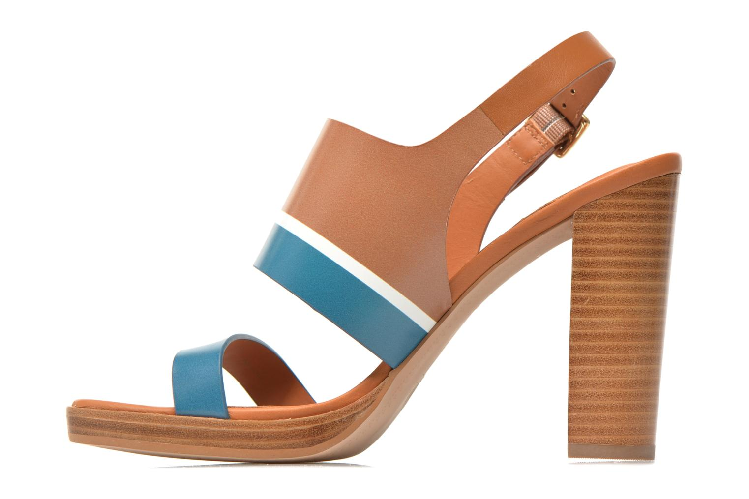 Sandals What For Miller Blue front view