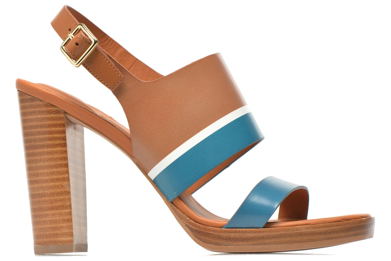 Sandals What For Miller Blue back view