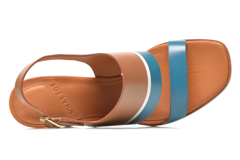 Sandalen What For Miller blau ansicht von links