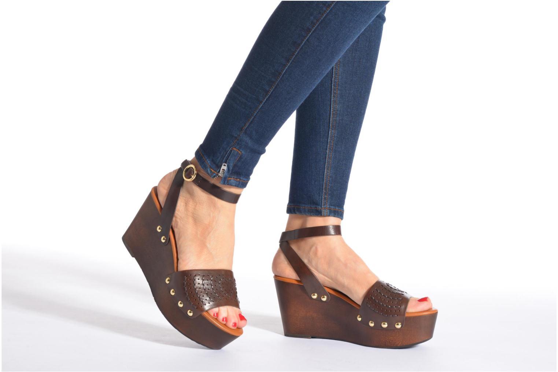 Sandales et nu-pieds What For Spun Marron vue bas / vue portée sac