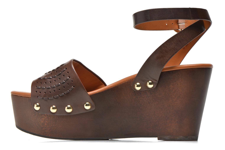 Sandales et nu-pieds What For Spun Marron vue face